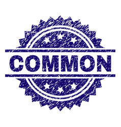 Grunge textured common stamp seal vector
