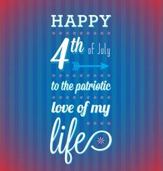 Happy 4th july card vector