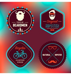 Hipster Badges Set vector