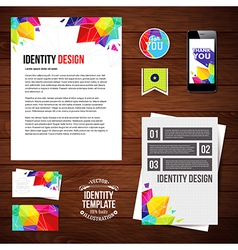Identity design for Your business geometric style vector image