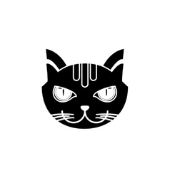 Isolated cat pet design vector