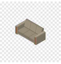 isolated sofa isometric couch element can vector image