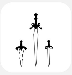 knives sharp blades symbols vector image