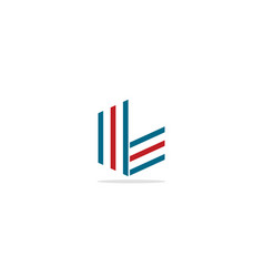 Line abstract colored logo vector