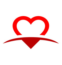 love heart logo icon design vector image