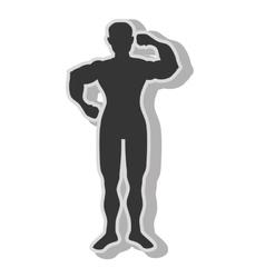 Man bodybuilding muscles vector