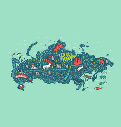 Map russia vector