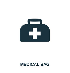 medical bag icon line style icon design ui vector image
