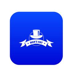 Modern hat icon blue vector