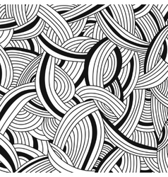 monochrome background Hand drawn ornament vector image