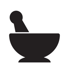 Mortar pestle icon design vector