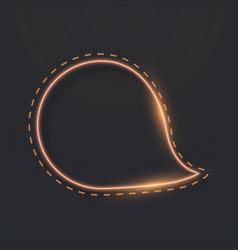 Neon frame icon vector