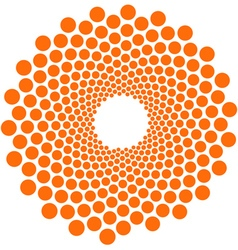 Orange circle pattern flower vector