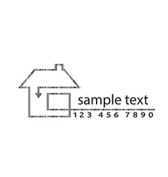 outline of arrow barcode home vector image