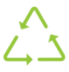 recycling triangle halftone icon vector image