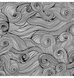 Seamless abstract hand-drawn waves texturecopy vector