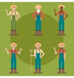 Set of Farmers vector image