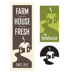 Set of farmhouse logos vector
