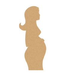 shape of pregnancy girl vector image