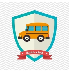 shield back to school design vector image