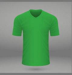 Shirt template for jersey vector