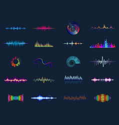 Sound waves or acoustic music equalizer vector