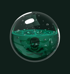 Sphere of poison game icon of magic orb vector
