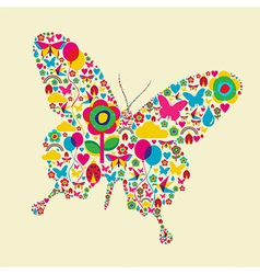 Spring time butterfly vector