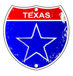 Texas lone star interstate sign vector