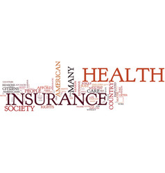 The cost of health insurance for america s vector