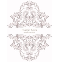 Vintage Baroque Invitation card Imperial style vector image