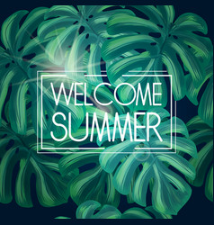 Welcome summer tropical background vector