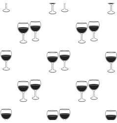 Wine glasses icon in black style isolated on white vector