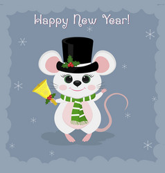 Year steel rat 2020 merry christmas and vector
