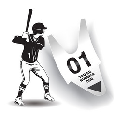you are number one baseball artwork vector image