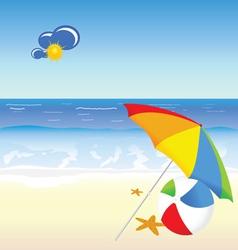 beach beauty cartoon art vector image