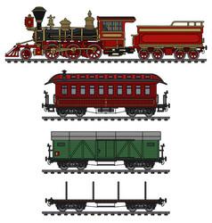 classic american wild west steam train vector image