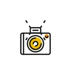 Color line icon for flat design Camera photo vector image vector image
