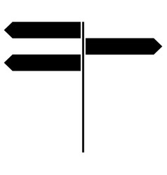 direction sign the black color icon vector image