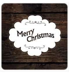 merry christmas vintage design vector image