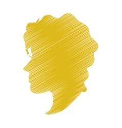 Striped woman head profile design vector