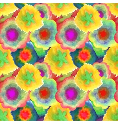 Watercolor seamless texture pattern of the petals vector image vector image