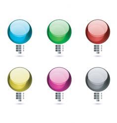 abstract bulbs vector image vector image