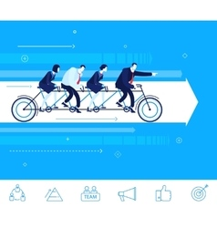 business concept Go to the vector image