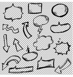 comic speech bubbles vector image vector image
