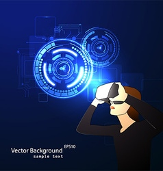 glasses with the virtual reality vector image vector image