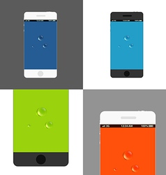 Modern phones collection vector image