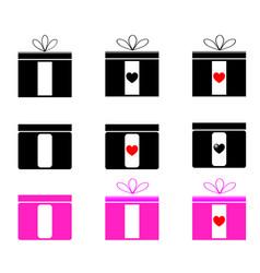 present set black and magenta color vector image