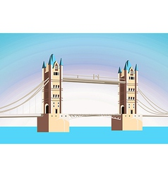beautiful bridge vector image vector image