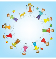 Children in a circle vector image